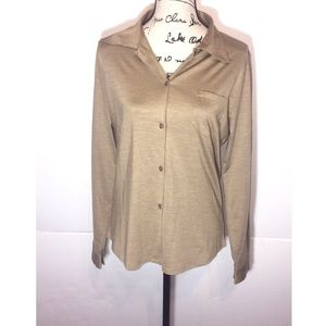 Magaschoni Button Down Collared Shirt Front Pocket